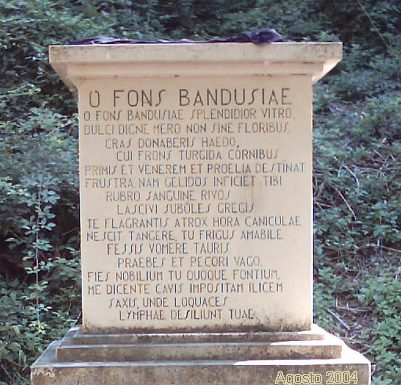 Fons Bandusiae – La Fonte Bandusia