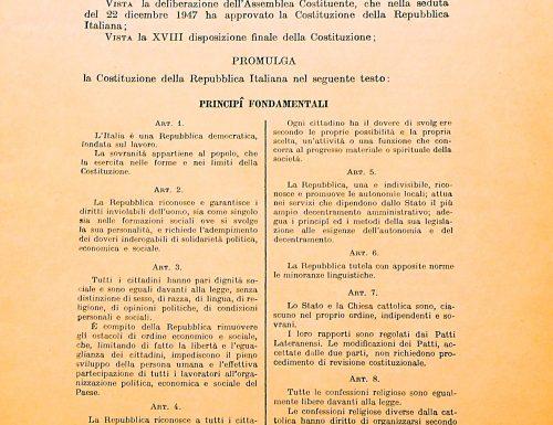 Tema sulla Costituzione Italiana