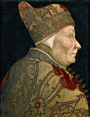 Ritratto del doge veneziano Francesco Foscari, Lazzaro Bastiani, 1460 circa; Venezia, Museo Correr.