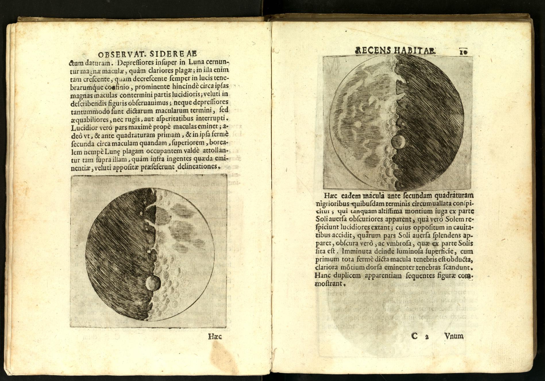 Con il Sidereus nuncius (Avviso astronomico), redatto in latino, nel 1610 Galilei annunciò al mondo le sconvolgenti scoperte effettuate con il nuovo strumento, il telescopio o cannocchiale.