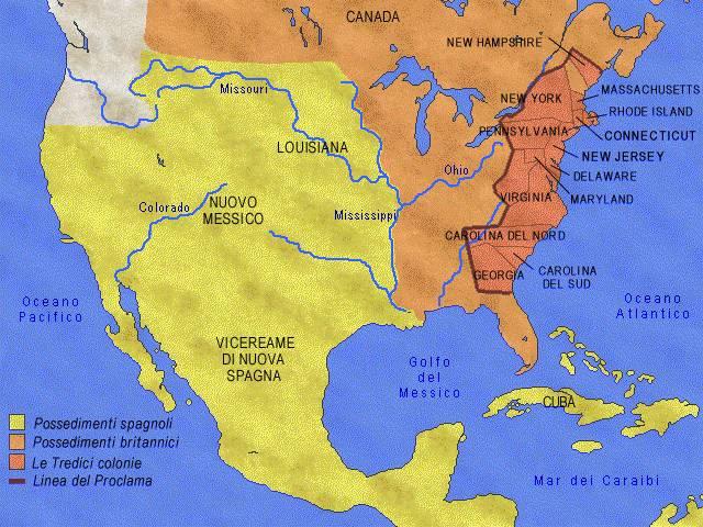 Gran parte dell'America del Nord del 700 è spopolato. Le zone più popolate sono rappresentate dalle tredici colonie inglesi che erano affacciate sull'oceano atlantico. Alle spalle di queste colonie vi […]