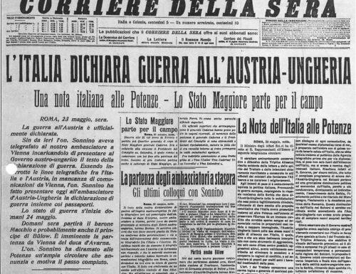 L'intervento dell'Italia nella Prima Guerra Mondiale